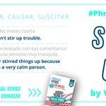 """Image for the Tweet beginning: ¿Cómo usarías el #PhrasalVerb """"stir"""