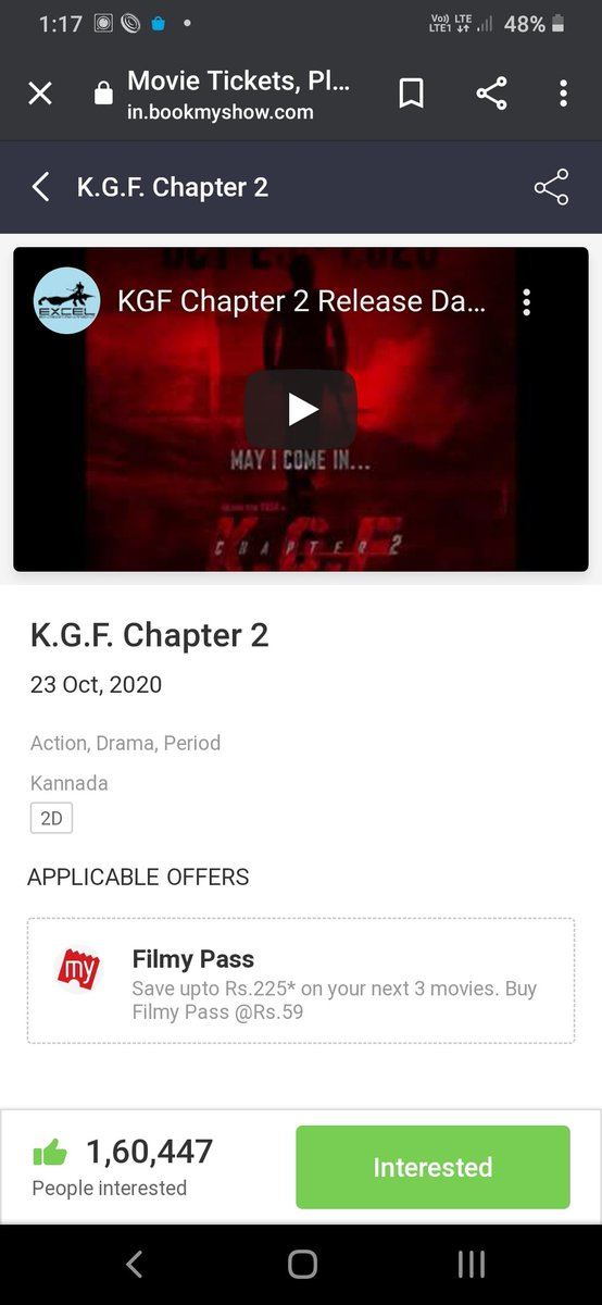 @raghuveer5307 @Karthik1423 Do u think that's easy ..😂. We r there to watch FDFS  , just get lost . #KGFChapter2  #TheNameIsYash https://t.co/CapOV4VJIS