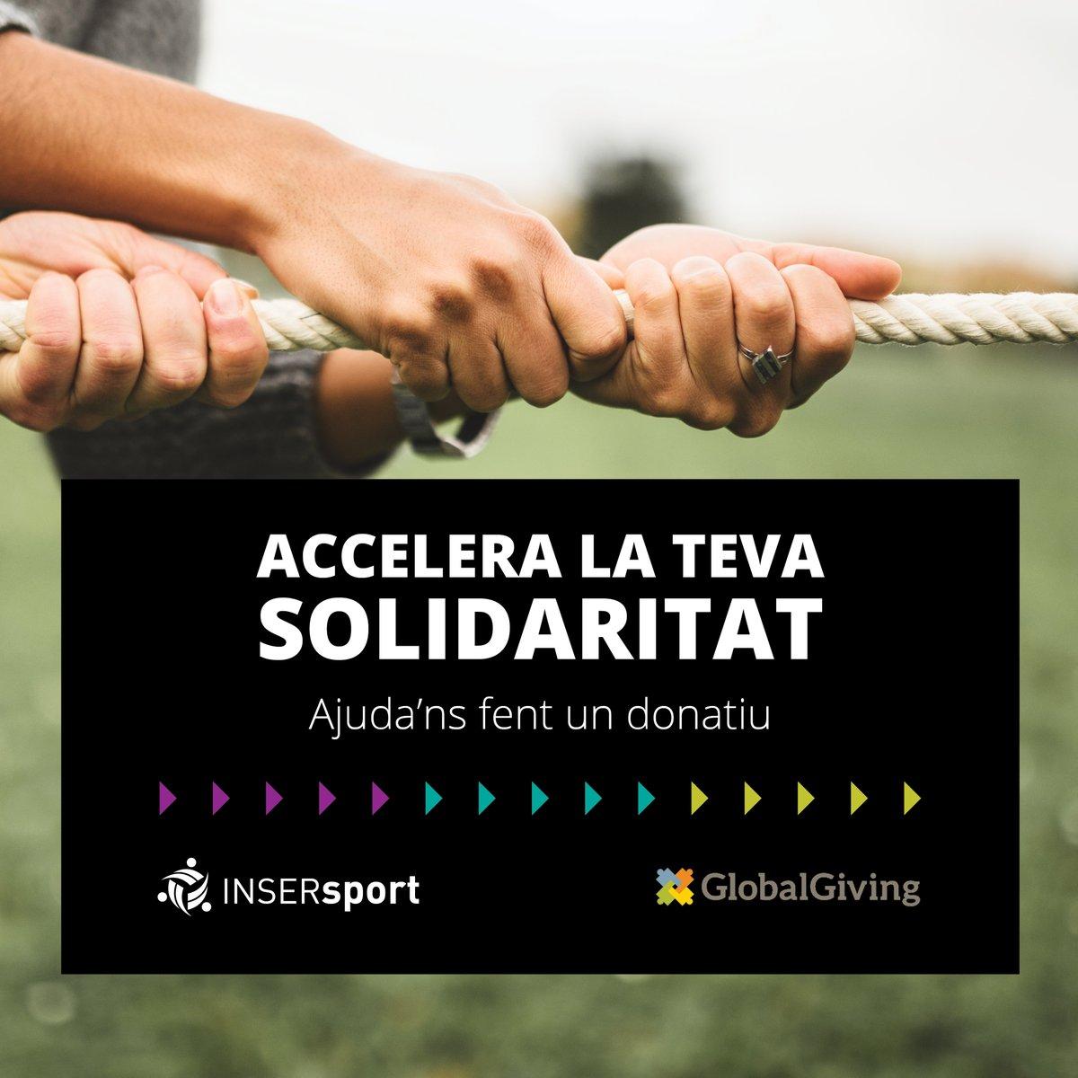 ‼️Accelera la teva solidaritat. Ajuda'ns fent un donatiu a INSERsport  ✅Prop de 200 joves han obtingut una titulació que els ha permès accedir al mercat laboral  Volem seguir oferint nous futurs. Hi col·labores?👇 https://t.co/cNBTk6vCeo  #somesport #sominclusió https://t.co/elpI3pSVw7
