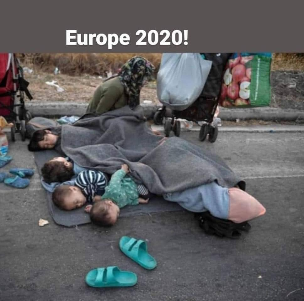 What do you think childhood memories of this children will be? Born in Moria refugees camp, and now sleeping on the street. What about they future?This is Europe 2020, this children are in Europe.#PeoplesVSBorders, #PeoplesVSWalls, #ClosetheCamps #RegularizationNow, #PapersForAll https://t.co/wmkY2g6x1I