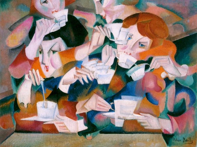 Swiss artist Alice Bailly, Tea, 1914 #womensart