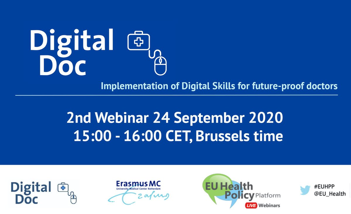 We are glad to announce our 2nd webinar on September 24, 15:00 (CET). We will be focusing on the theme 'Experiences, best practices, and future scope'. #EUHealth #EUHPD #healthcare @EU_Health This webinar is open to the public, no registration required. ➡️ https://t.co/QcKFR0bmmD https://t.co/nWm9hNd6Km