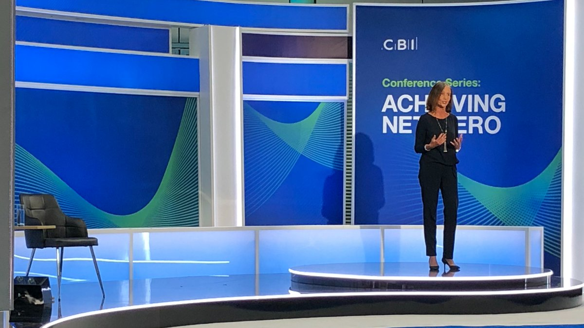 The pandemic brings a new challenge.  Businesses fighting for survival.   Some say the answer is to retreat to the past.    But this country always does best when it leads from the front business and government working in partnership.     @cbicarolyn addresses #CBINetZero https://t.co/zEsesLd11t