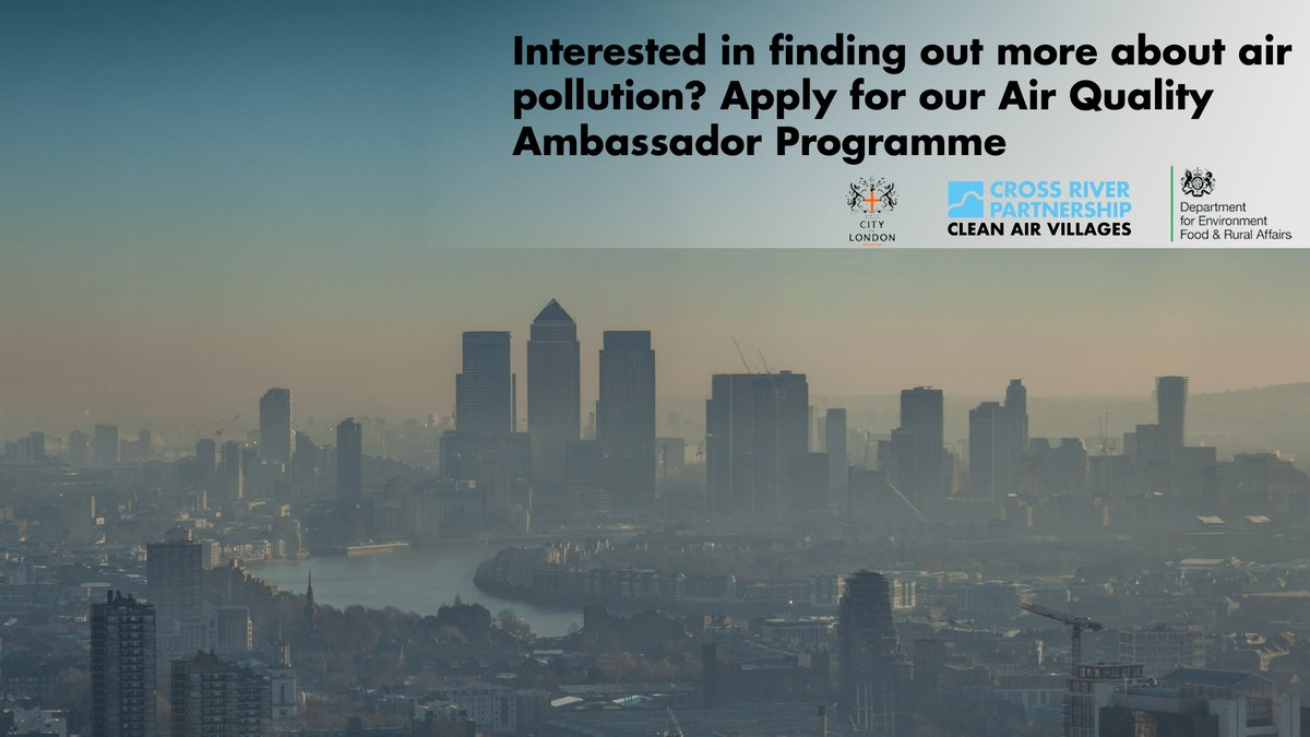 Do you live/work in City of London? Are you interested in your local environment and wider implications of air quality? Apply here for a free training programme: https://t.co/OrFwRKGCp5 #CleanAirVillages @_CityAir   @themonumentinfo @themonumentinfo @LeadenhallMkt @planetotgrapes https://t.co/6EBu8647dH
