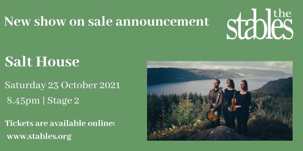 New show on sale announcement!!!   @SaltHouseMusic Saturday 23 October 2021   8:45pm   Stage 2   @StablesMK   For more information and buy your tickets online:- https://t.co/W6Ha1F2dW0 https://t.co/KX7cIxMHuN