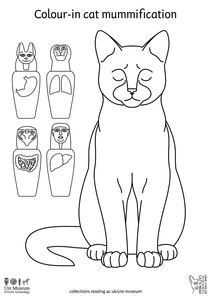 Download this colour-in page that accompanies the series of videos that the @UreMuseum is sharing to celebrate this year's #HeritageOpenDays #UreCat #mummy https://t.co/9HEtJmj9NY https://t.co/yN1fps68Iq