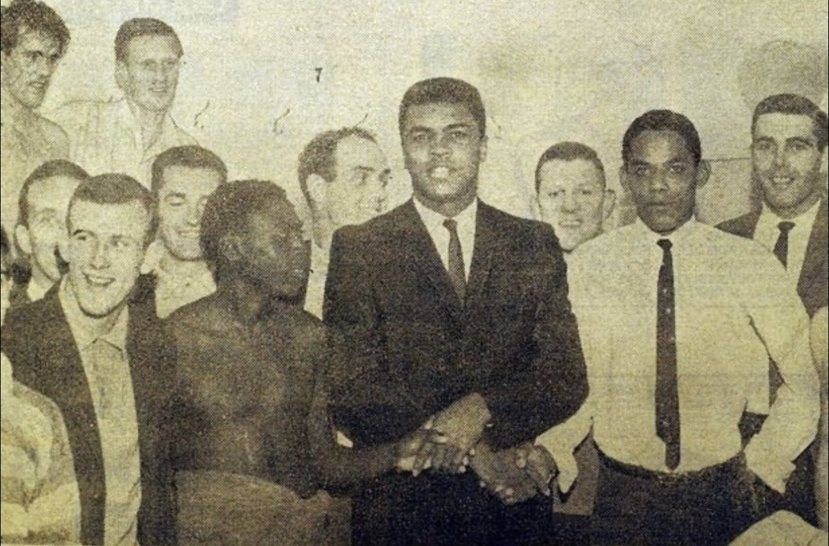"""""""The Greatest"""" Cassius Clay whilst visiting #CelticFC in 1965"""