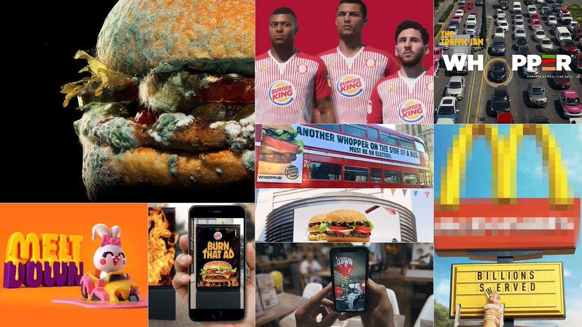 A strong #marketing team, great partner agencies, clear brand positioning and a shared creative ambition. Ingredients that triggered amazing ideas and enabled #BurgerKing to be client of the year in the @Cannes_Lions, @ClioAwards, @OneShow and @dandad - all at the same time. https://t.co/EbBYGhndIK