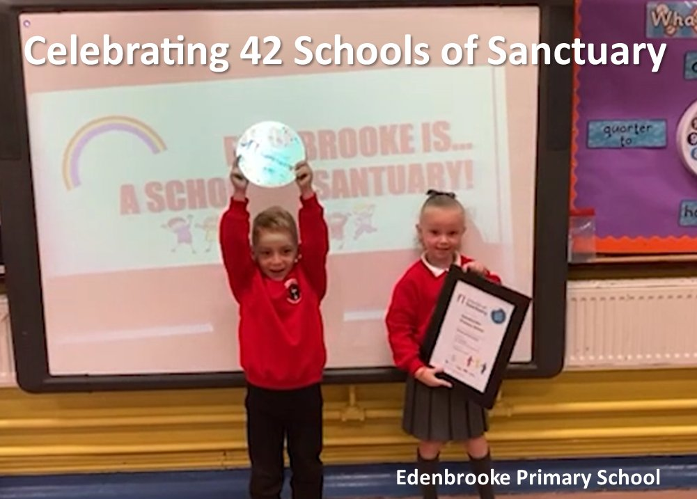 Today we celebrated another 14 schools, now 42 in total serving Urban Village areas becoming Schools of Sanctuary. Congratulations to these schools in making their schools inclusive, safe & welcoming for everyone. Thanks to our partners @Ed_Authority @Belfastcof  #GRWeek2020 https://t.co/NpO0P3rxNx