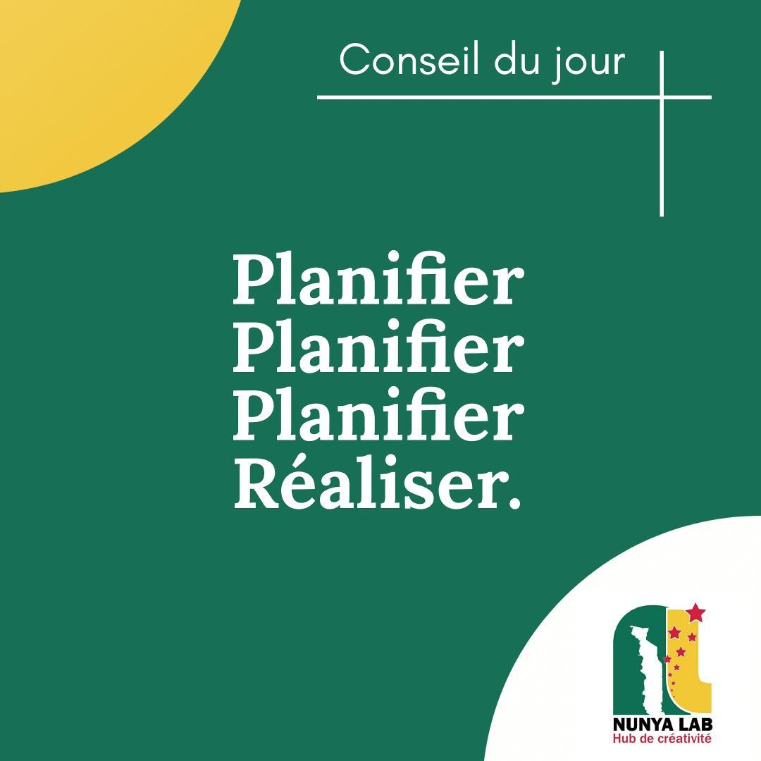 Planifier, c'est excellent. Réaliser c'est encore mieux. Nous savons que vous voudriez que tout soit parfait. Mais parfois, il suffit de commencer et chaque chose se mets en place.  Nous sommes là pour vous aider à commencer.  Qu'attendez vous ?   #conseildujour #nunyalab #faiej https://t.co/BBZ8yFLYwp
