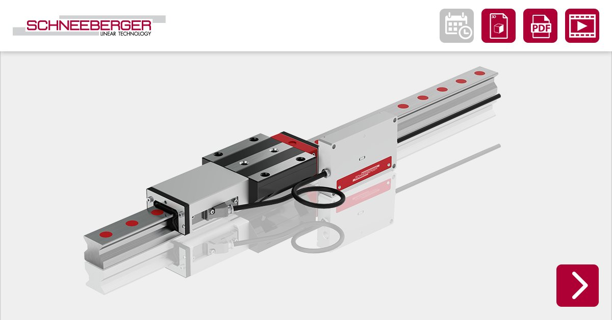 Modern SCHNEEBERGER MONORAIL guideways are ideally suited for highly dynamic applications and are decidedly superior to slideways in this respect.  More informations: https://t.co/d1xnzkpTYU https://t.co/h6uf2oxV2t
