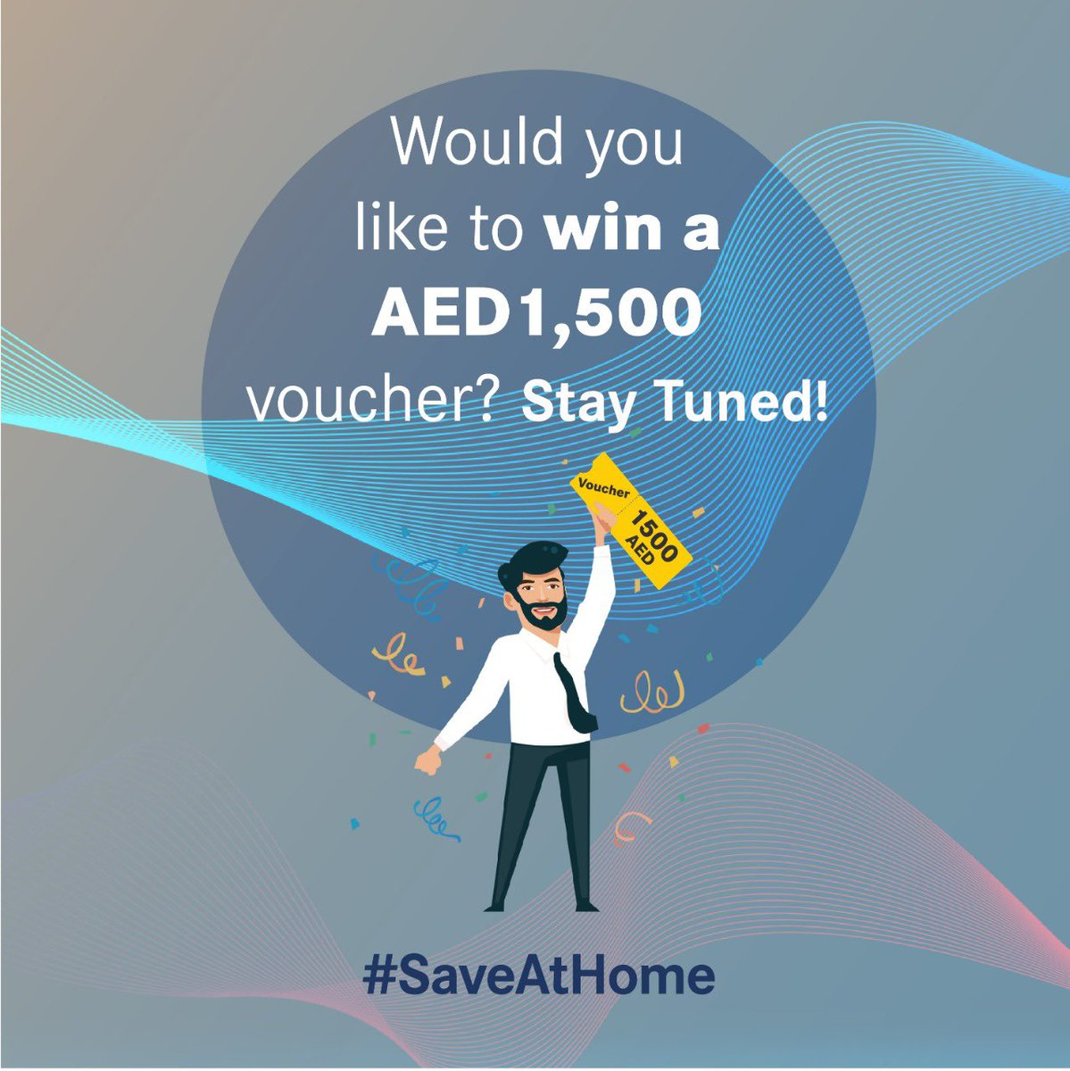 Would you like to win a AED1,500 voucher?  Stay Tuned! #SaveAtHome #UseItWisely  #OurCommitment #OurNationsPower  #YouAreResponsible #DoE #UAE #EnergyConservation #EnergySustainability #EnergySaving #Conservation #AbuDhabi #Energy #TowardsaNewEnergyEra https://t.co/GqAnzvihvR