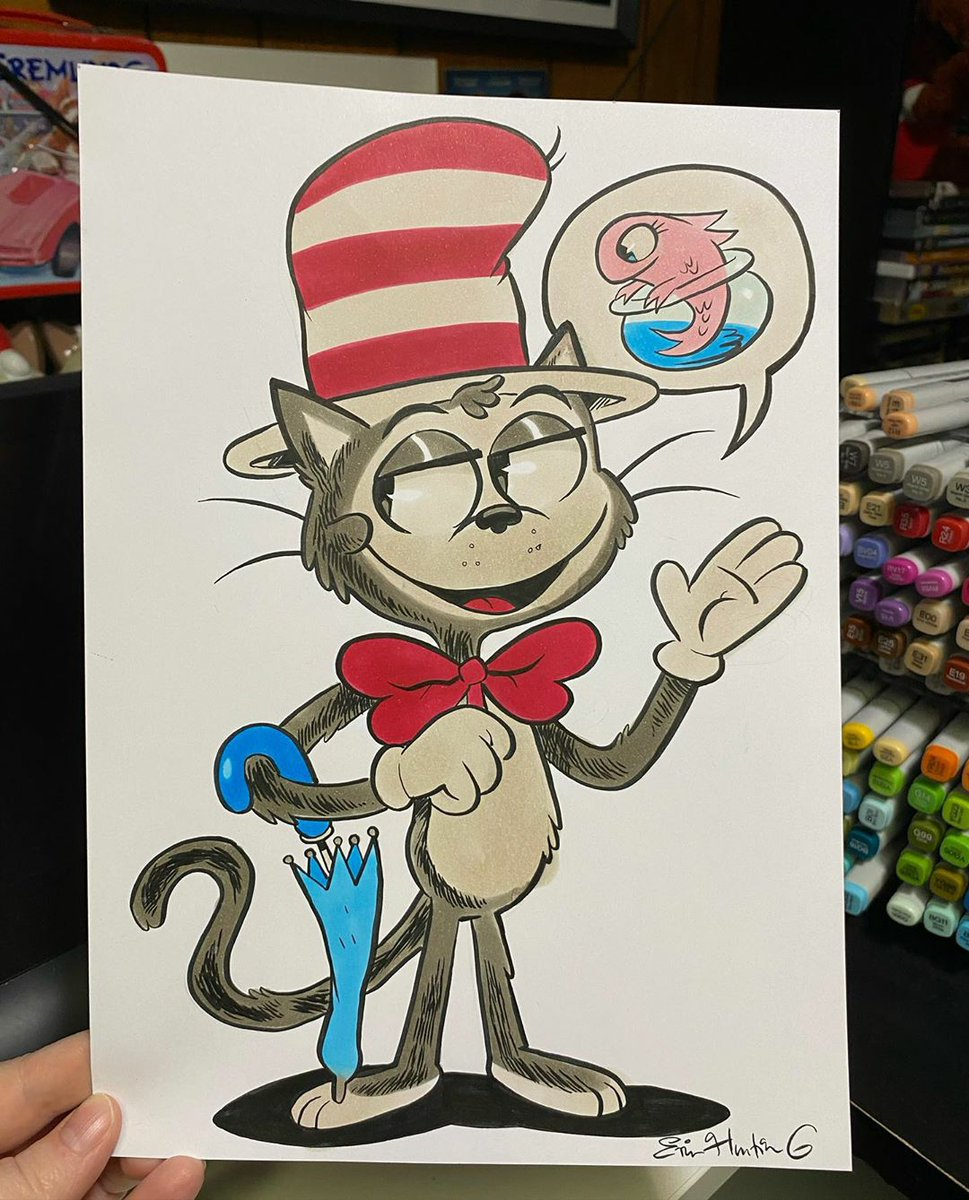Arte - Erin Hunting #thecatinthehat #art #arte  @erinhunting https://t.co/cxzAqFT2RD