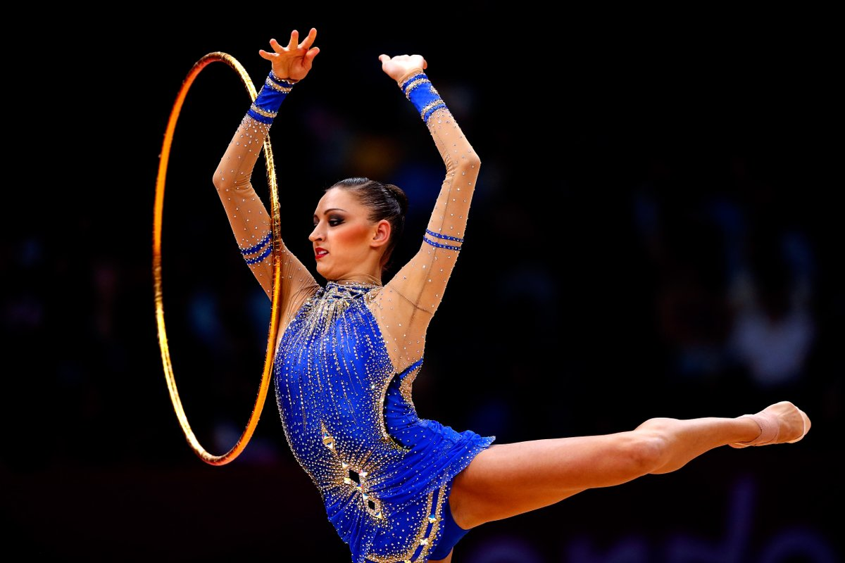 Happy #MusicMonday from Evgenia Kanaeva 🤸‍♀️ This week we are throwing it back to London 2012 for Kanaevas stunning hoop routine which helped her to claim all-around gold! @gymnastics