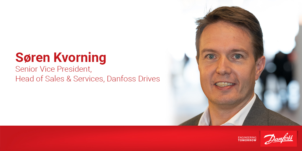 Søren Kvorning is our new Senior Vice President, Head of Sales and Services at Danfoss Drives.   He joins us from a role as Regional President of Asia Pacific Region at Danfoss and continues the hard work of his predecessor, Thomas Thörewik.   Read more: https://t.co/WCbasgc24G https://t.co/JHtfbVuQ85