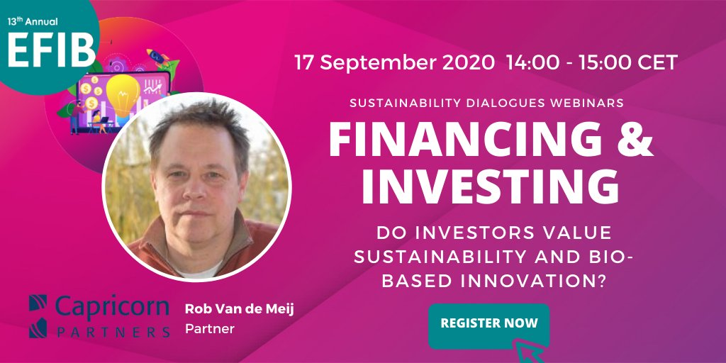 test Twitter Media - The next installment in our #EFIB2020 #SustainabilityDialogues series will be moderated by Rob van der Meij of #CapricornPartners!   The discussion will focus on the role of #sustainability & bio-based #innovation in finance.  Register now ➡️ https://t.co/CKRtZLUzPZ https://t.co/cedOxSD4vv