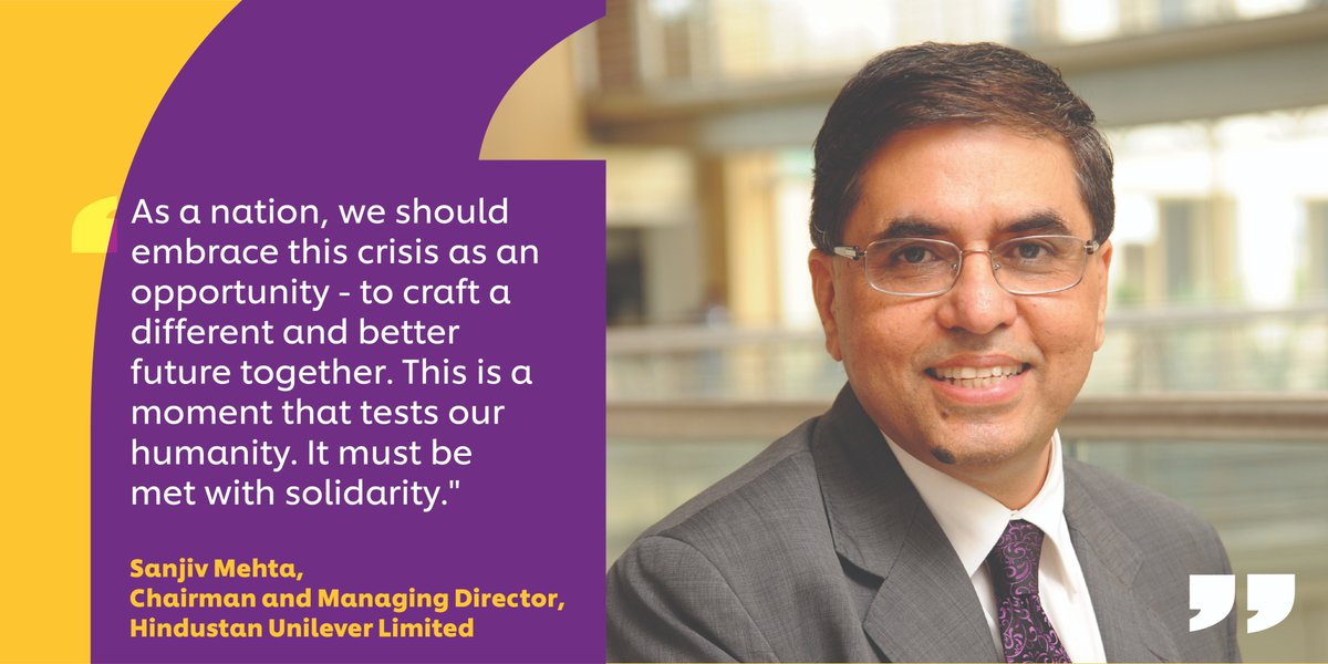 Now more than ever, it is crucial to make the most of what is in our control, and adapt to what isn't. In our Chairman & MD Sanjiv Mehta's words - To deal with this crisis, #leaders must get comfortable with ambiguity & chaos. #MondayMotivation #Resilience https://t.co/GASRjk72AT https://t.co/IuqhmQFVIU