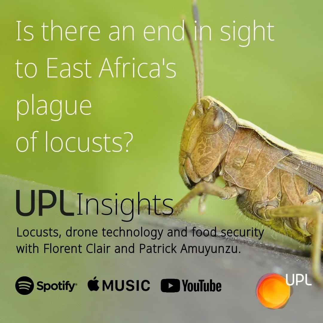 In this episode of #UPLInsights, we discuss the threat to farmers, #foodsecurity & livelihoods posed by the locusts – that have ravaged East Africa. Florent Clair is joined by Patrick Amuyunzu to discuss UPL's work in #cropprotection.  https://t.co/3XQ6oDkqjR #AGRF #AGRF2020 https://t.co/8YuLynsbgb