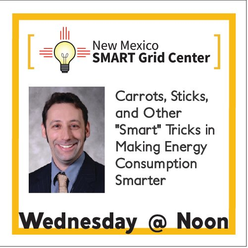 Happening Tomorrow at Noon! NM SMART Grid Center Webinar Featuring @eme_psu Professor Seth Blumsack More info here: https://t.co/peSxudwHLi  #NSFfunded #EPSCoR #NewMexico #webinar #smartgrid #nmsmartgridcenter https://t.co/D7xAZX7Knq