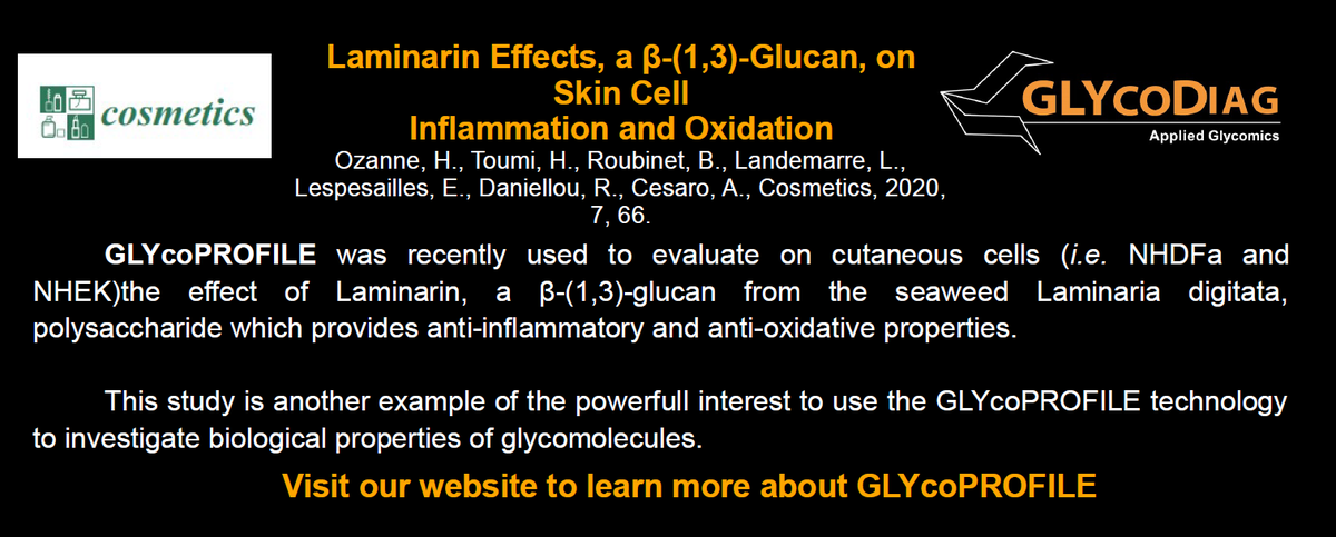 Another contribution of GLYcoDiag's research for glyco-cosmetics knowledge. #glycodiag #lectins #glycosciences https://t.co/Rq4o4fOEIU