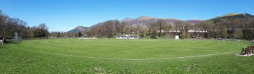 Decent view for a cricket ground...  Probably our final full-length @bbccumbriasport cricket hour of the summer features @cumbrialeague's @KeswickCricket hoping for a trophy, along with county Over 50s' guru @chief64wcc.  Tuesday night 8-9pm.   FM, AM, Freeview and @BBCSounds. https://t.co/P0PjMzSlIp