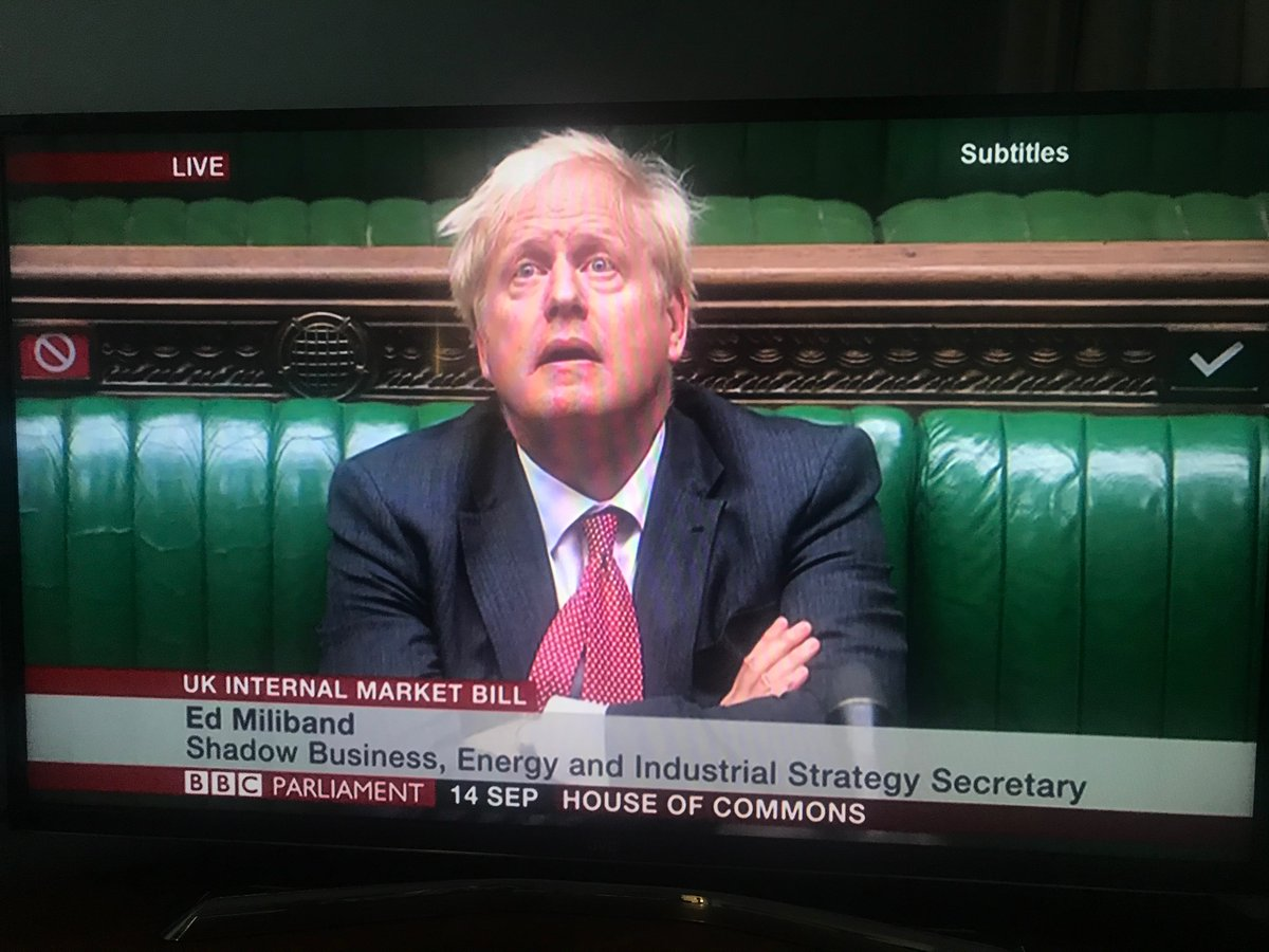 The face when you've just been absolutely destroyed by @Ed_Miliband over your attempts to break international law and jeopardise the UK's standing in the world. 🔥
