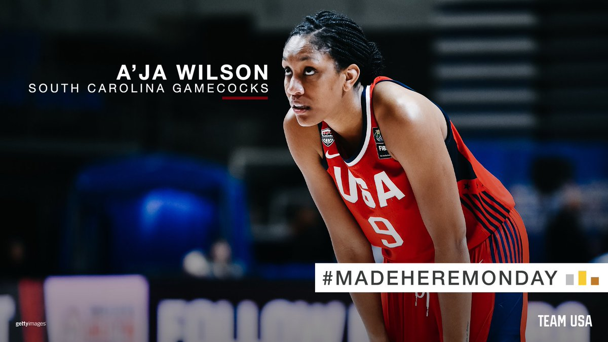 .@_ajawilson22 has found success at every level as an NCAA Champion with @GamecockWBB, 2018 World Cup gold medalist and a 2x @WNBA All-Star. She's not done yet. 👀 #MadeHereMonday | #OlympiansMadeHere