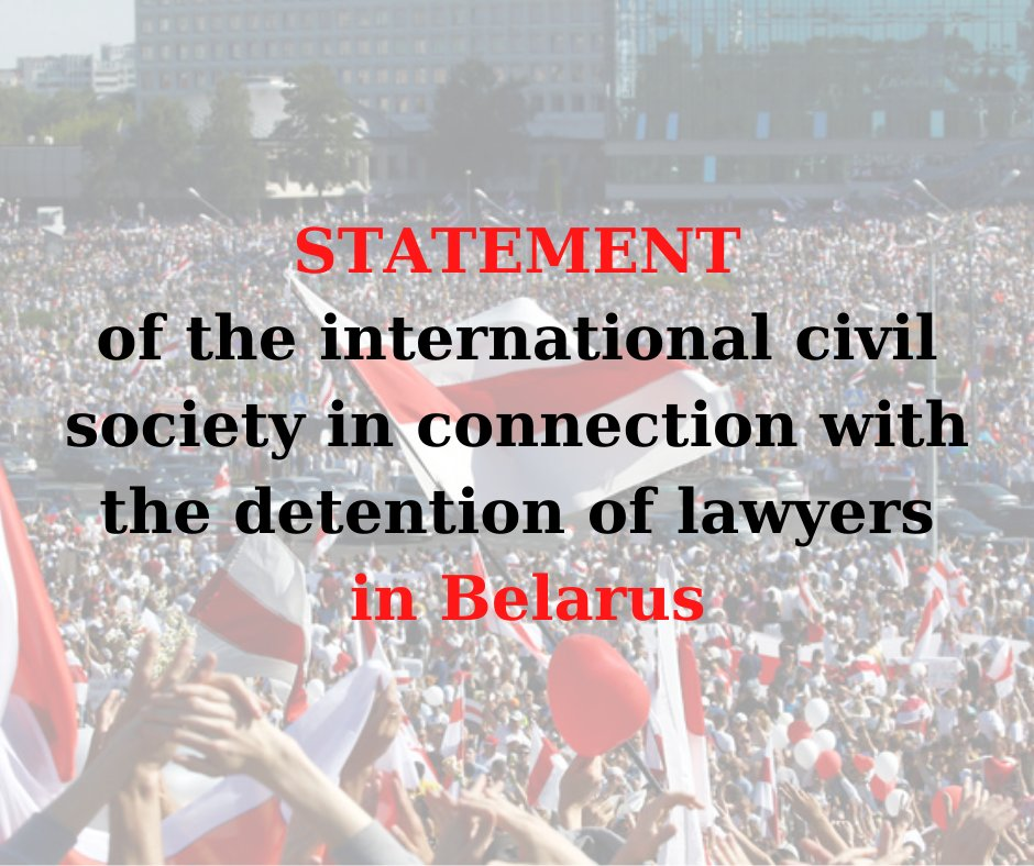 Open statement in connection with the detention of Belarusian lawyers. The Promo-LEX Association and other signatory organizations express their deep concern at the arrest on Sep. 9, 2020 in Belarus of lawyers in a politically motivated criminal case. https://t.co/O75i2ZhIqN https://t.co/95o1iVCSzp