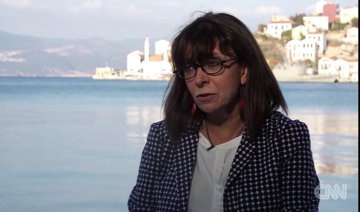 #Kastellorizo #Greece #Turkey tensions - an interview with President Katerina Sakellaropoulou