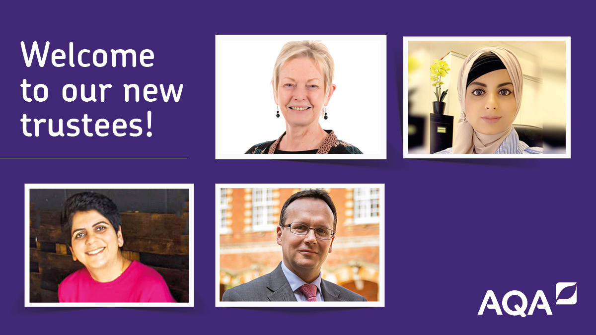 We're delighted to welcome four new Trustees to AQA > bit.ly/32qALhL