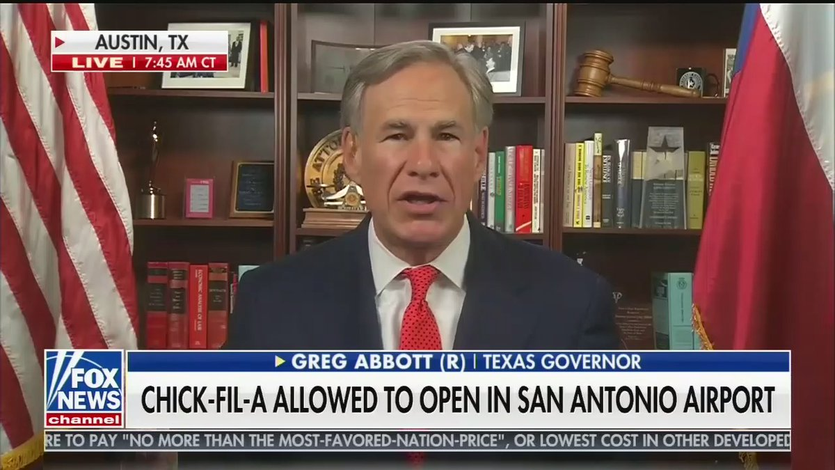 approximately 20% of the job duties for governor of texas include promote chick-fil-a