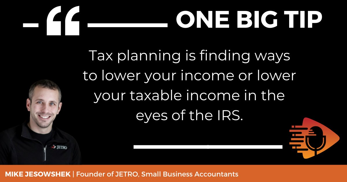 There are many ways to legally reduce your tax liability. For the most part, this comes from lowering your taxable income. Find out how to master your tax planning by listening to #OneBigTip podcast E57 with virtual tax firm owner Mike Jesowshek https://t.co/iriwe8Z4tX #taxes https://t.co/DT32osPEty