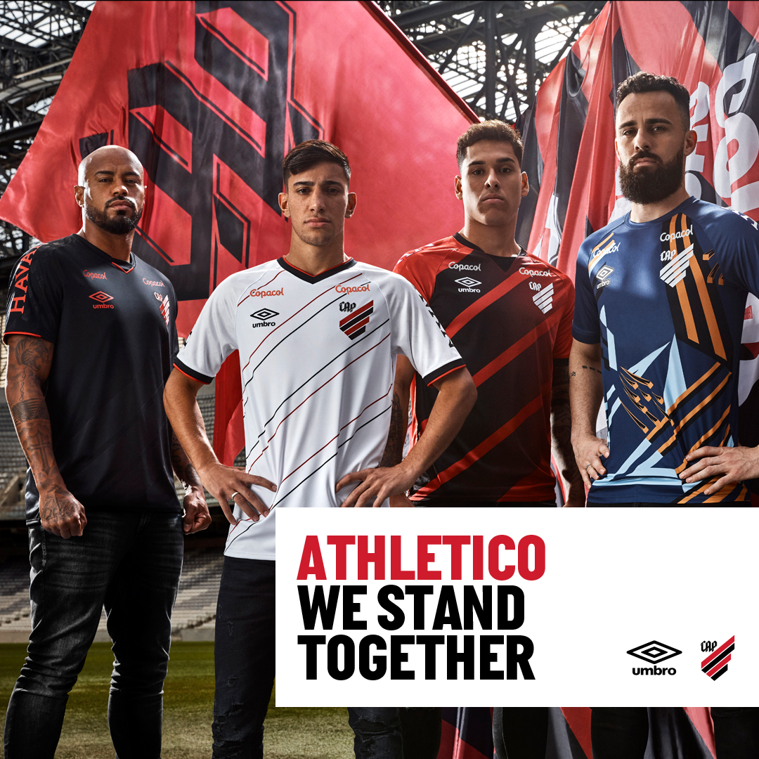 We Stand Together with @AthleticoPR.  20/21 Home and Away jerseys 🔴⚫️ https://t.co/gDz2weImtL