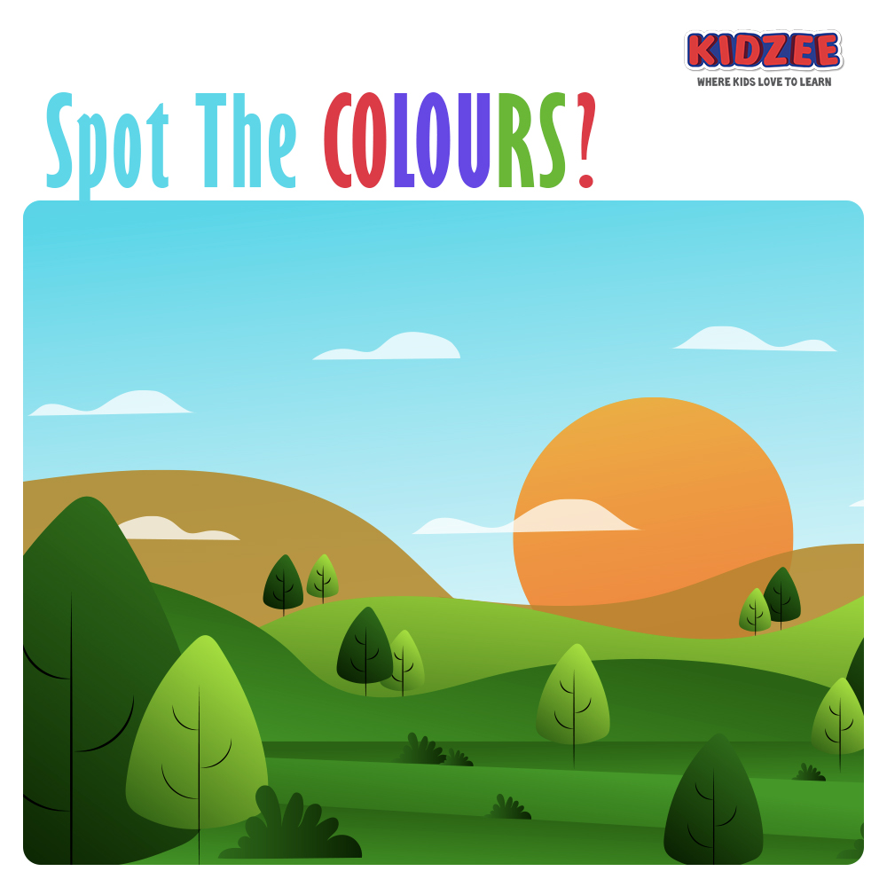 #Colors have the power to make you feel #positive and smile, colors give you energy if you stare at them for a while.  Look at this picture and tell us all the colors you see, because we're sure there are more than three!  #Kidzee #Learning #LearningAtHome #FunLearning https://t.co/EgCLfEYThp