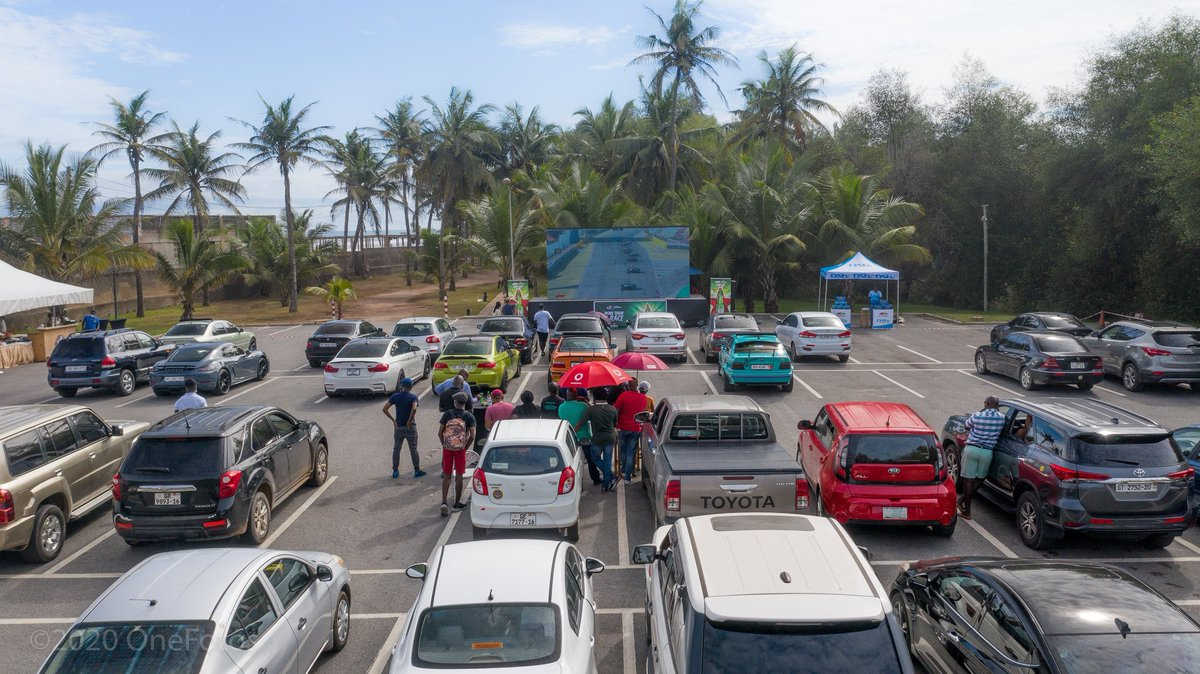 About yesterday's #F1ViewingPartyGH DRIVE-IN Formula 1 #TuscanGP viewing party. Thank you to all our members and fans.  It was dramatic and chaotic race at the #Mugello and folks at the Labadi Beach Hotel Car park had a blast. Thank u @SuperSportTV @DStv_Ghana @Heineken @Joy997FM https://t.co/Wp4rlXdUXB