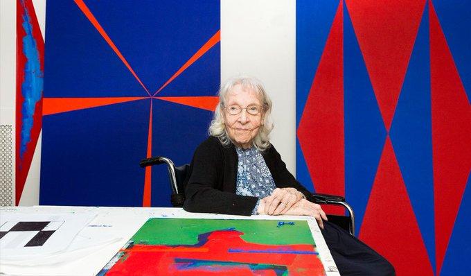 Men controlled everything, not just art - Carmen Herrera, 105 year old Cuban-American abstract, minimalist painter #womensart