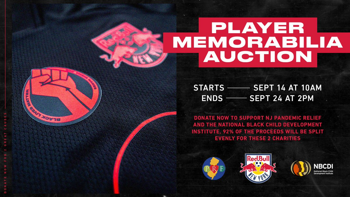 Player-worn gear, autographed items and Black Lives Matter patches available in our player memorabilia auction, benefiting @NBCDI & @NJ_PRF ➡️ bit.ly/2ZAufDq #RedRunsDeep | #RBNY