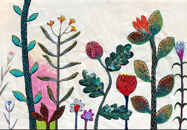 The secret Garden by Kimika Hara, contemporary hand embroiderer from Japan #womensart