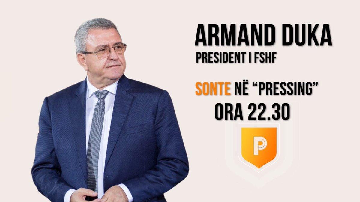 """Të dashur miq, sonte ora 22:30 do të jem në emisionin """"Pressing"""" 📺 #AbcNewsAlbania. https://t.co/8HaZ4Vaaxg"""