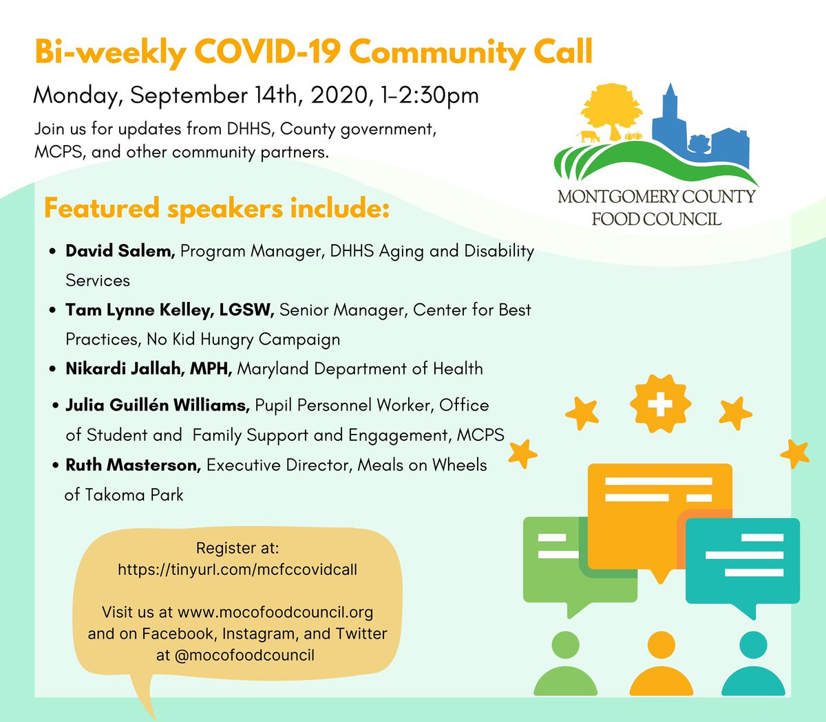 Join us today from 1-2:30pm for our biweekly COVID-19 food security call! Register now: https://t.co/LEPwcbJYP6 https://t.co/iPl9tkIVIc