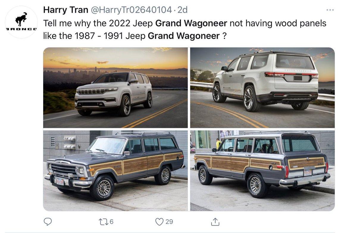 test ツイッターメディア - 次はSUVと思ってて筆頭がJeep Grand Wagoneer : 今やハイテク製品の自動車、年代物は躊躇するし、値落ちする輸入車を中古で良い頃合いに狙うのがイチバン賢いと信じてる。 ホントは角いエクスプローラーが欲しい。初代ジュラシックパークで惚れた https://t.co/Q4clA95s0A