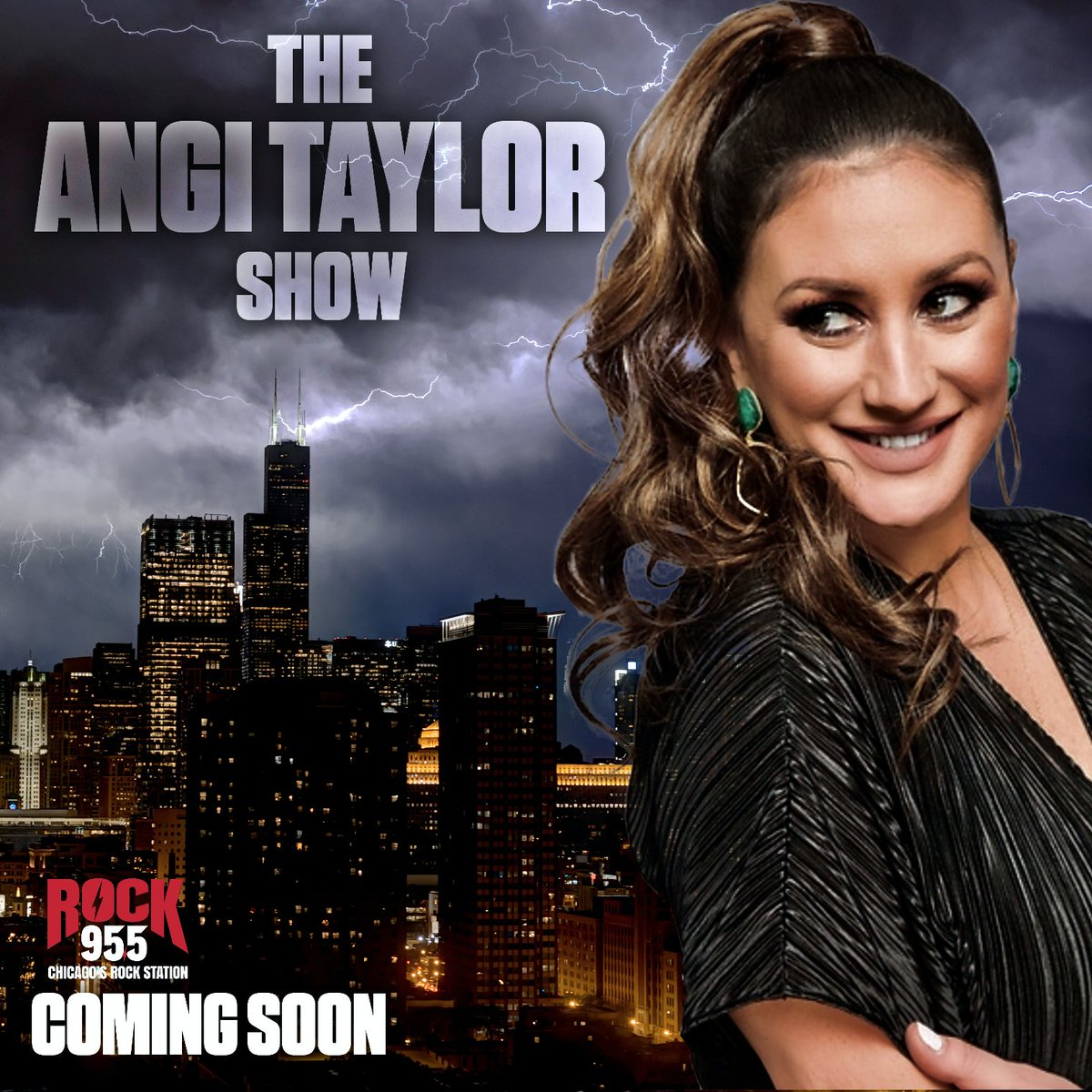 """🚨Warn the neighbors! 🚨JUST ANNOUNCED: The Angi Taylor Show is coming to Rock955! In the words of @AngiTaylorKISS .. """"Chicago, Let's F*CKING ROCK! 🤘 https://t.co/u7DrIWUmaD"""