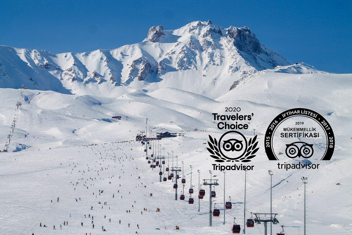 Dünyada ilgi çeken yerler arasına bulunan @erciyeskykmrkz'i dünyanın en önemli turizm sitesi @TripAdvisor tarafından 2020 #TravelersChoice ödülüne layık görüldü.🏆🤓👏 https://t.co/2DozNJv2Jv