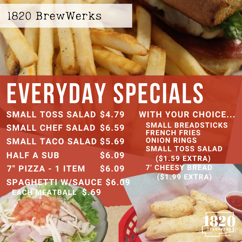 It's Monday! Did you forget to meal prep yesterday? Join us for lunch and check out our specials.   #mealprep #nomealprep #whatsforlunch #everydayspecials #eatgoodfood #1820brewwerks https://t.co/6FAdKjgXx1