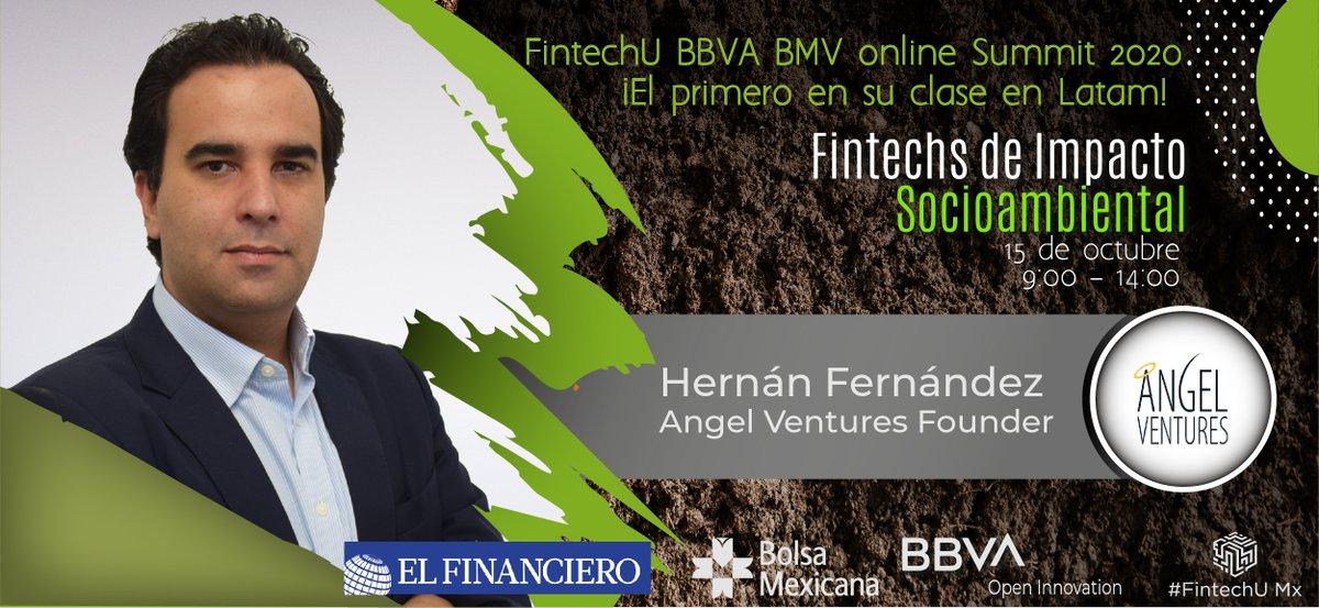 ¡No te pierdas el @FintechUmx1 Online Summit 2020!🌐 Únete a la conversación con Hernán Fernández (@hernanAVM), Managing Partner @AVM_Mex el próximo 15 de octubre para hablar de Fintechs de Impacto Socioambiental🚀👇🏻 https://t.co/HuUjymJWko https://t.co/ASDHUN6R2x