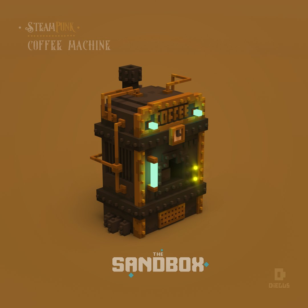 What a delicious coffee flavored with oil ☕️. Cafecitooooo!!! Made for @thesandboxgame . . . #voxelart #voxel #voxelworld #megavoxels #colectivopixel #gamedev #indiegame #retro #digitalart #3d #3darts #3dmodels #pixelart #Steampunk  #victorian #gentleman #coffee #machine