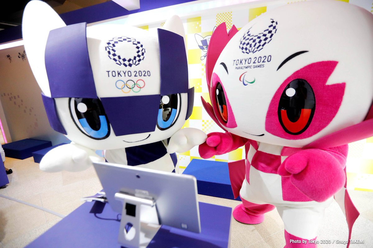 Happy #MiraitowaMonday  We 🤎 having #Miraitowa and #Someity as our mascots.  #Tokyo2020   #UnitedByEmotion https://t.co/kmUG0ZTqGP