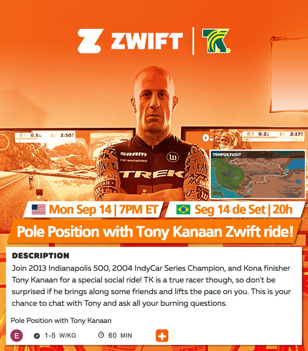 🇺🇸 Monday is @GoZwift @GoZwiftTri ride night! Join us at 7p ET for a fun one hour ride. Look the ride up on the Companion app or 👉🏻 https://t.co/FzyqX6nom8 #GoZwift. Let's ride! https://t.co/Gk99vx5fwe