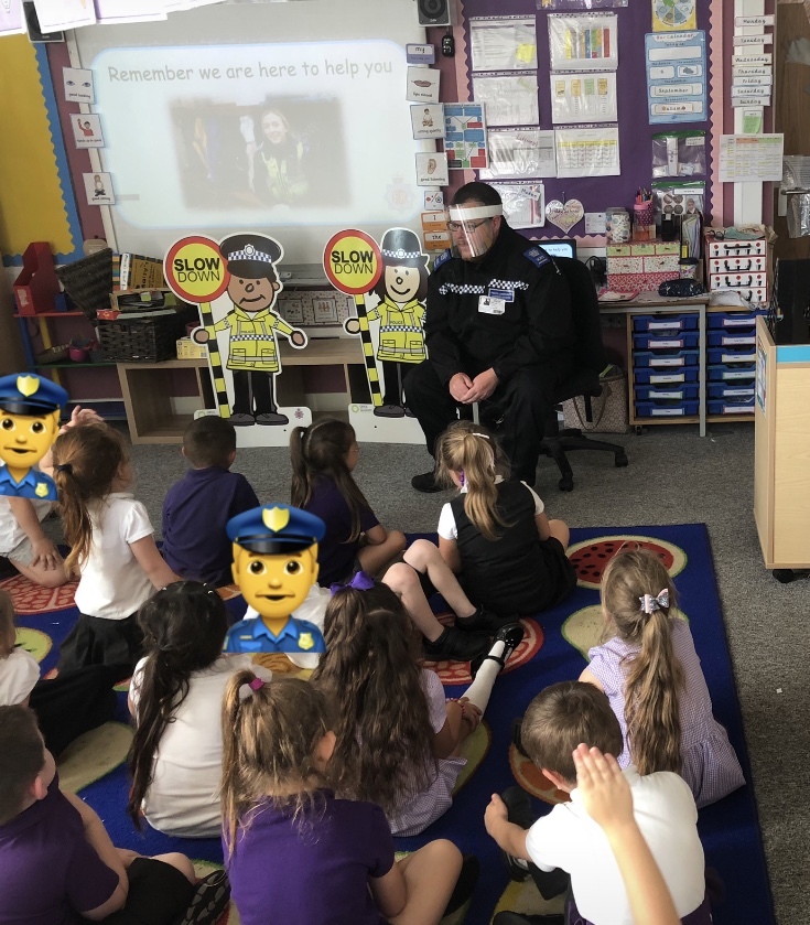KS1 @finlayschool was visited by #PCSOJenkinson & @glos_opcc #ParkingBuddies 👮‍♂️🚗  Learning road safety & how the parking buddies help to keep people safe 👍  Challenge set to name the buddies? 🤔  #NameThoseBuddies   Can't wait for entries 🤩  @glosdeputyPCC https://t.co/IKkpTn74Lw