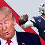 Image for the Tweet beginning: Trump: Amerikansk fodbold er kedeligt